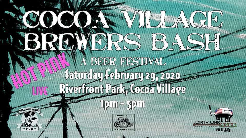 Cocoa Village Brewers Bash Banner By Artist Eric Lamar